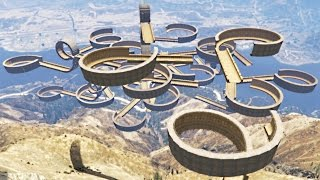 ULTIMATE SKY STUNT COURSE! (GTA 5 Mod)