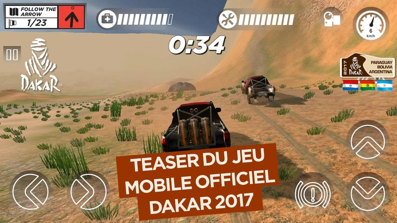 jeu vid o mobile dakar 2017 teaser officiel youtube. Black Bedroom Furniture Sets. Home Design Ideas
