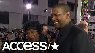 Denzel Washington Talks Oprah & Golden Globe 2018 Snacks! | Access