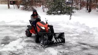 Husqvarna 42-in 2-Stage Snowblower Attachment - The Ultimate Snow Throwing Machine