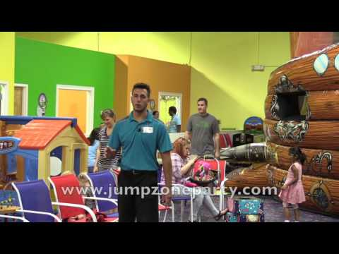 Jump Zone Birthday Parties, indoor bounce house, moonwalk, giant slides in Tampa Bay area