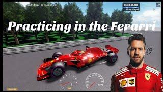 Roblox Formula X 2019 - Practicing in the Ferarri