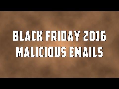 Black Fríday 2016 Malícíous Emaíls