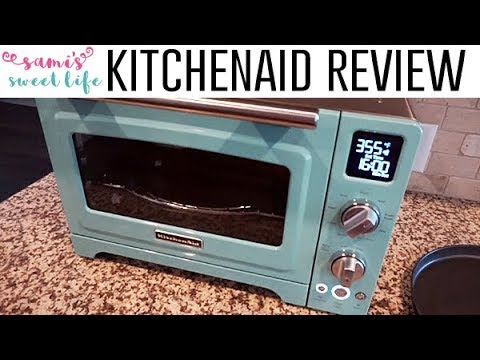 "KitchenAid KCO275AQ Convection 1800W Digital Countertop Oven 12/"" Aqua Sky"