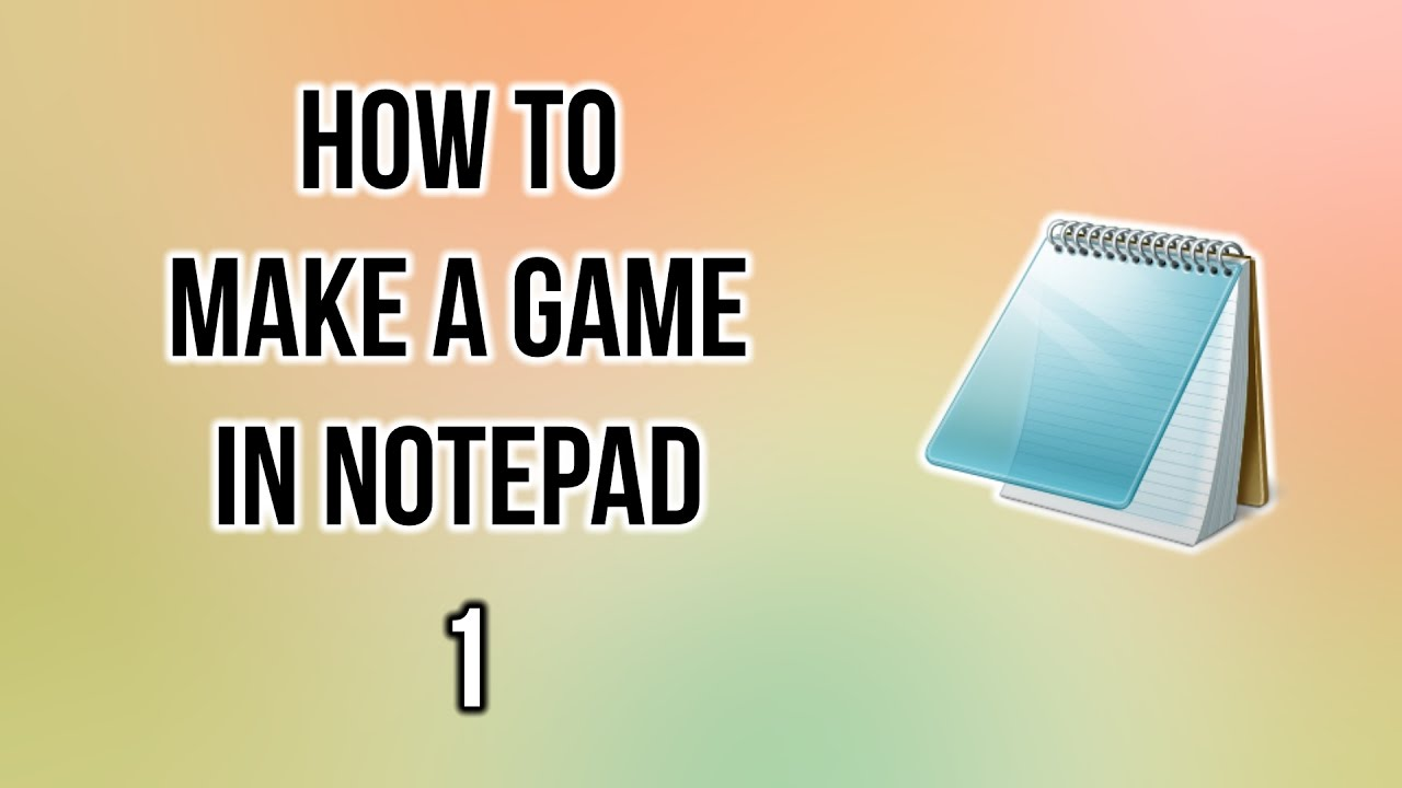 how to make a java game using notepad