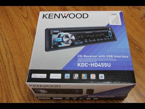 Kenwood KDC-HD455U - Installation - Unboxing - First Look