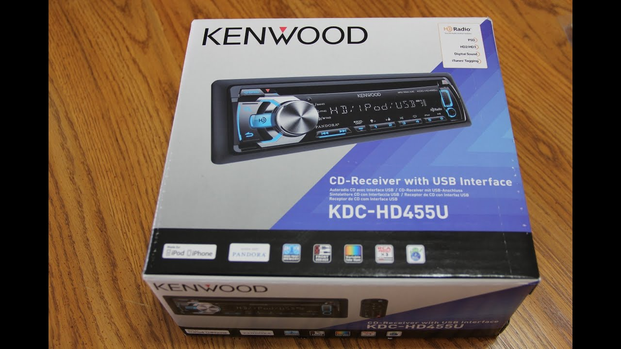 kenwood kdc hd455u installation unboxing first look kenwood kdc hd455u installation unboxing first look