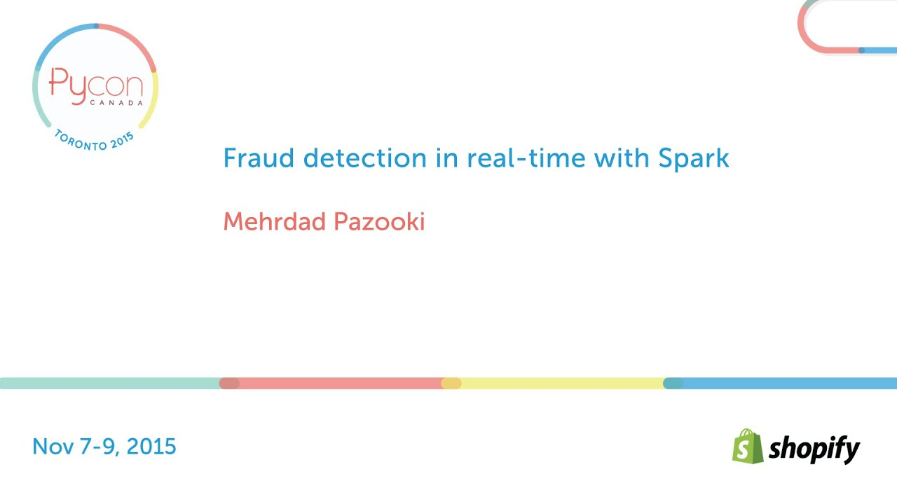 Image from Fraud detection in real-time with Spark