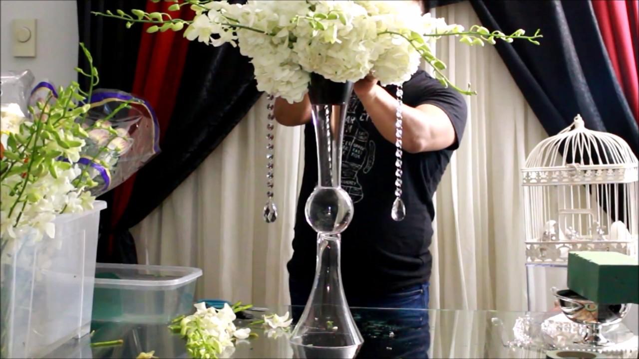 Como Hacer Arreglo Floral De Orquideas Y Hortencias