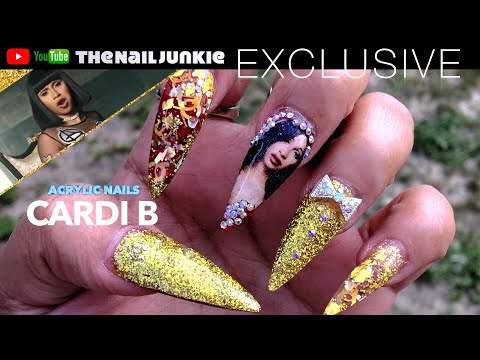 Cardi B Acrylic nails 💅🏽
