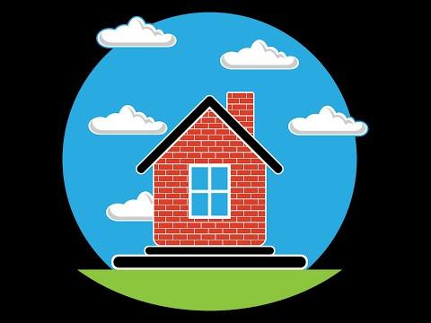 Урок 2.  Рисуем домик в деревне в Adobe Illustrator [RUS SUB]
