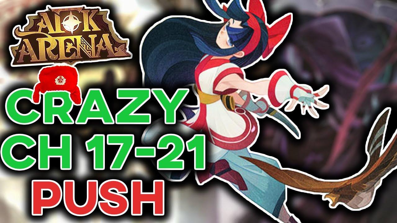 Test Account CHAPTER 17-21 INSANE PUSH! Nakoruru is dominating! [AFK ARENA]