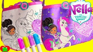 Nella the Princess Knight Color N' Style Sequin Purse Coloring Activity
