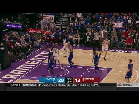 Kansas at Stanford Men's Basketball Highlights