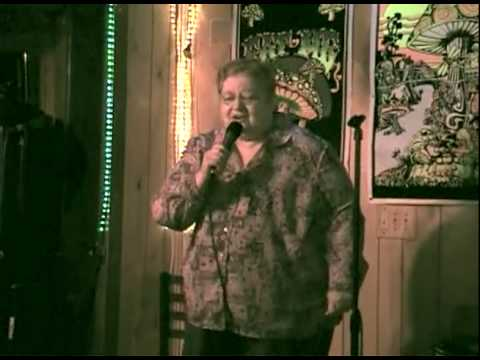 "Granma Corey sings karaoke ""Fire Water Burn"" by the Bloodhound Gang."