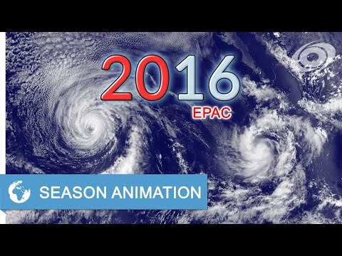 2016 Pacific Hurricane Season Animation