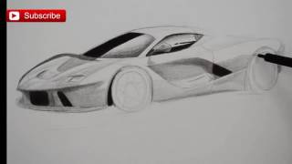 How to Draw a Sports Car Ferrari Step by Step- Tips- Fine Art