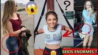🔴 Larissa Manoela abusa da transparência e seios aparecem 'estão enormes'