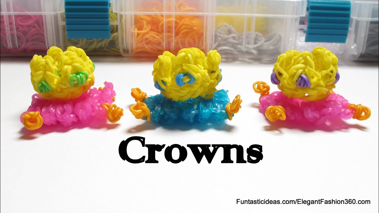 Rainbow loom crowns charm how to emojiemoticon youtube biocorpaavc Gallery