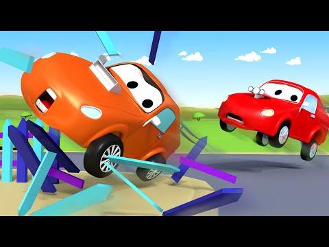 Odtahové auto Tom ve Městě Aut 🚗  Nezbeda Tyler naboural do lavičky - Animáky o autech