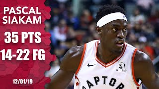 Pascal Siakam shows out for Raptors with 35 points vs. Jazz   2019-20 NBA Highlights