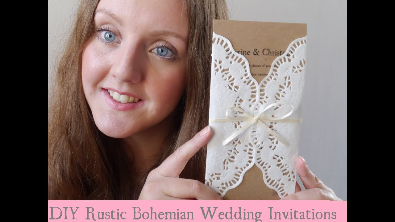 DIY Rustic Bohemian Wedding Invitations YouTube