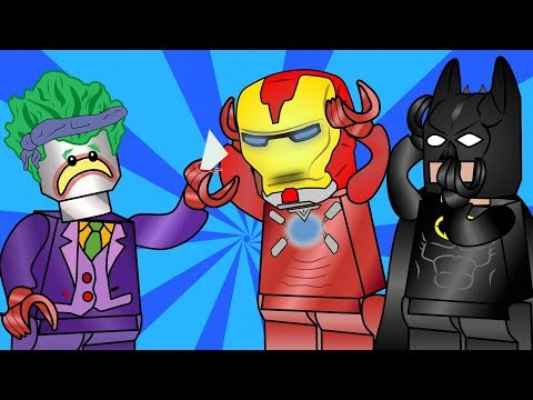 Lego Batman and the Lego Joker play hide and seek. Lego animation. Kids Cartoon.