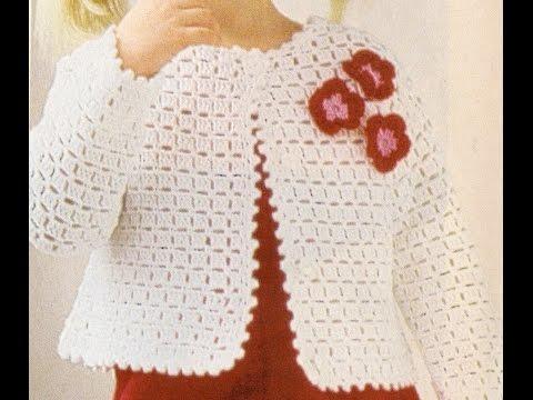 Puntada Fantasía Para Suéter de Niña a crochet - YouTube