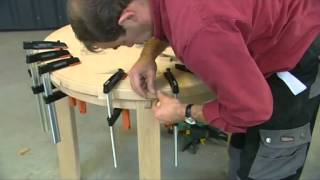 Réaliser une table ronde en hêtre