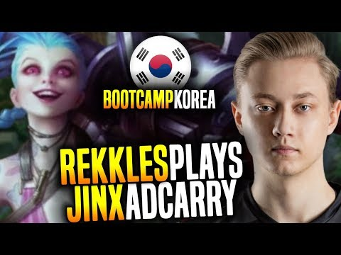 Rekkles Plays Jinx in Korea! - FNC Rekkles SoloQ Playing Jinx ADC in Korea Bootcamp! | Be Challenger