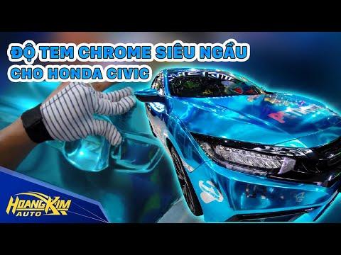 Honda CIVIC độ tem CHROME SIÊU NGẦU - Ô Tô Hoàng Kim