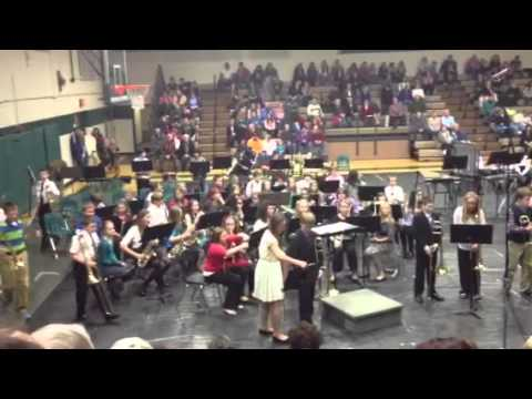 2012 Clare middle school band concert
