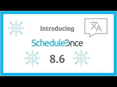 WEBINAR: What's new in ScheduleOnce 8.6