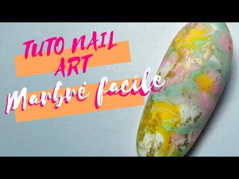 """TUTO NAIL ART - Marbré """"basique"""" Et FACILE !!!!"""