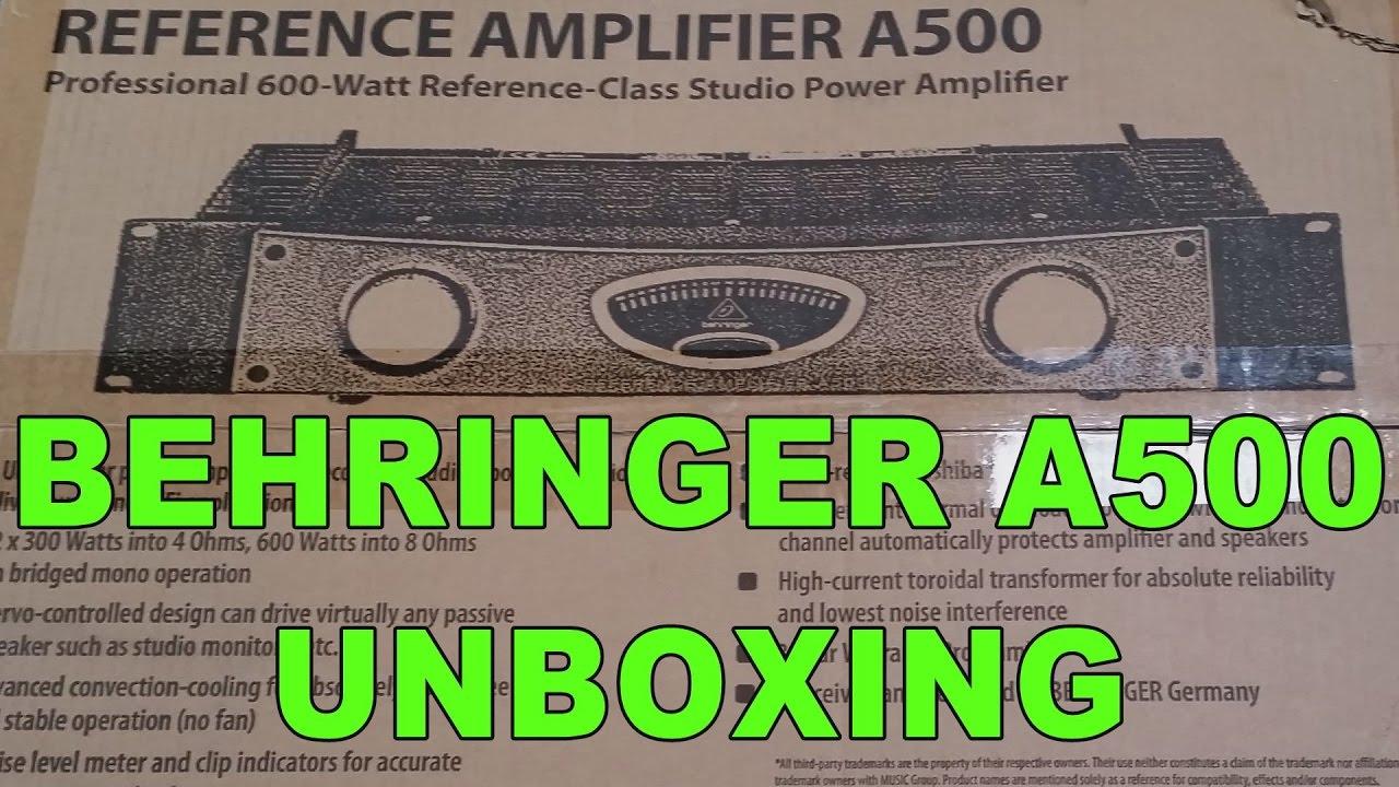 behringer a500 unboxing youtube. Black Bedroom Furniture Sets. Home Design Ideas