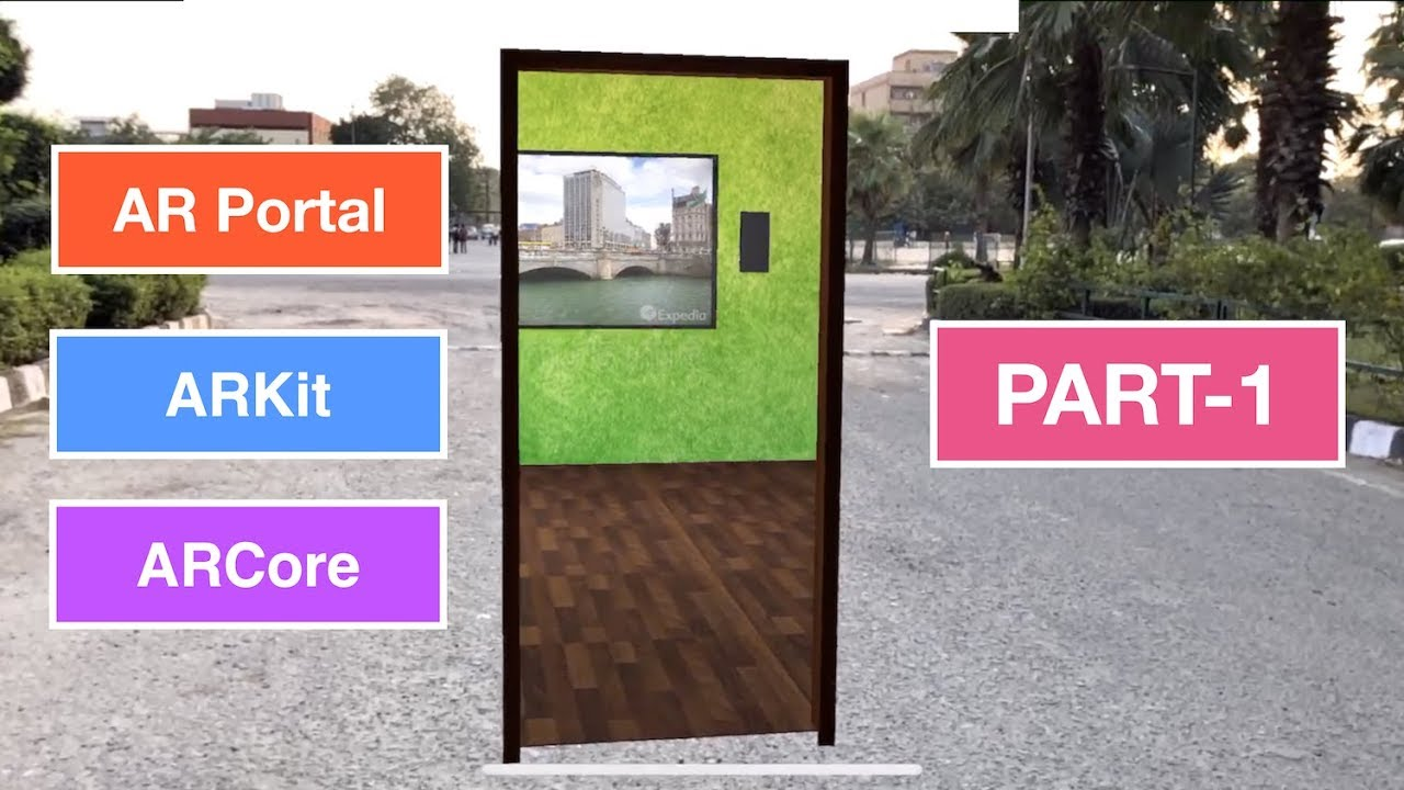 ARKit, ARCore & Unity Portal tutorial - (Part - 1) Modelling the portal  environment