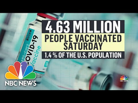 Record-Breaking 4.6 Million Vaccine Doses Administered on Saturday   NBC Nightly News