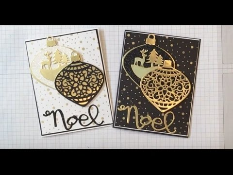 Delicate Ornament Christmas Cards - YouTube