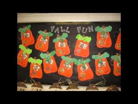 Fall bulletin board ideas decorating preschool