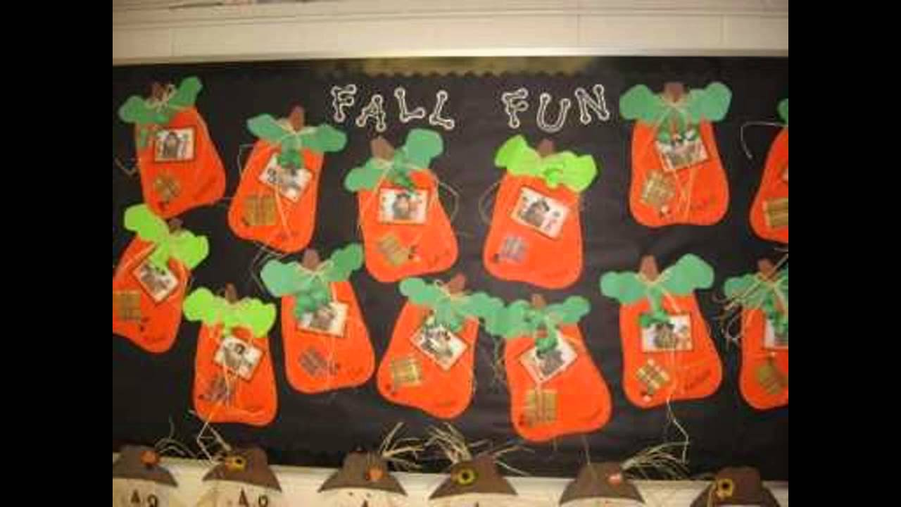 Fall bulletin board ideas decorating preschool