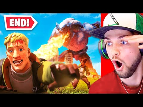 Reacting To The END Of Fortnite CHAPTER 2!