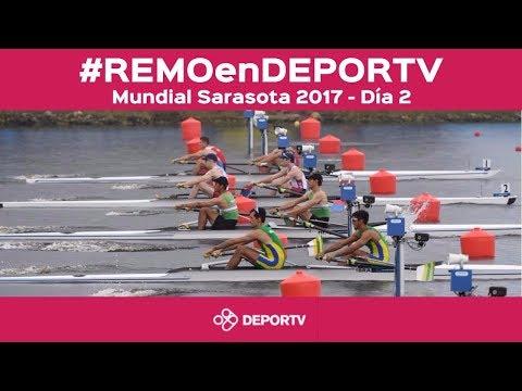#REMOenDEPORTV - EN VIVO DÍA 2 - XLVII Mundial de Remo Sarasota 2017