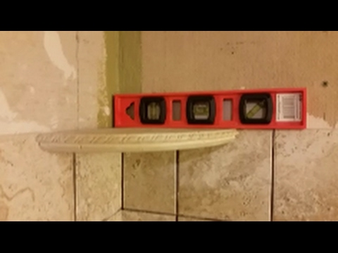 How To Install Corner Shelf On Shower Wall   Part 2  D.I.Y