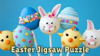 Happy Easter Jigsaw Puzzle! Fun & educational game for kids and toddlers - Let's play