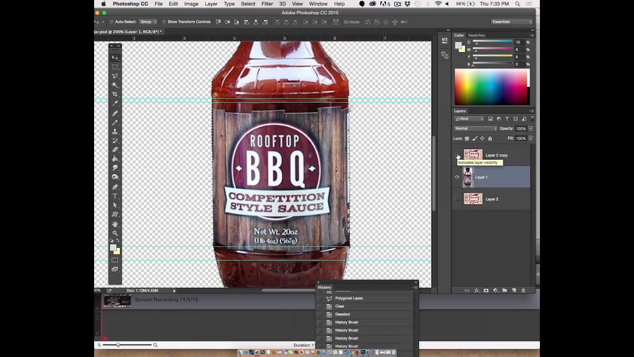 Adobe Photoshop Part 2 Wrap Package Design Around Bottle Youtube