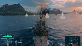 World of Warships 2 раза поджог