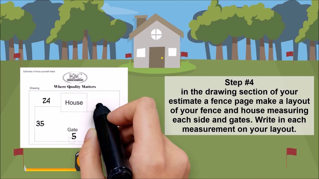 how to estimate a fence yourself video by k c fence pany