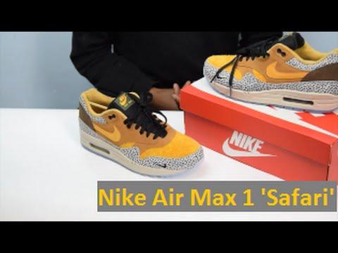 best sneakers 78f25 02860 Nike Air Max 1 Premium QS  Safari  review - ATMOS