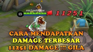 REKOR !! 11K  DAMAGE !! DAMAGE TERBESAR DI MOBILE LEGEND !!
