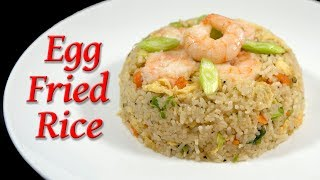 Egg fried rice with King prawns, Takeaway standard